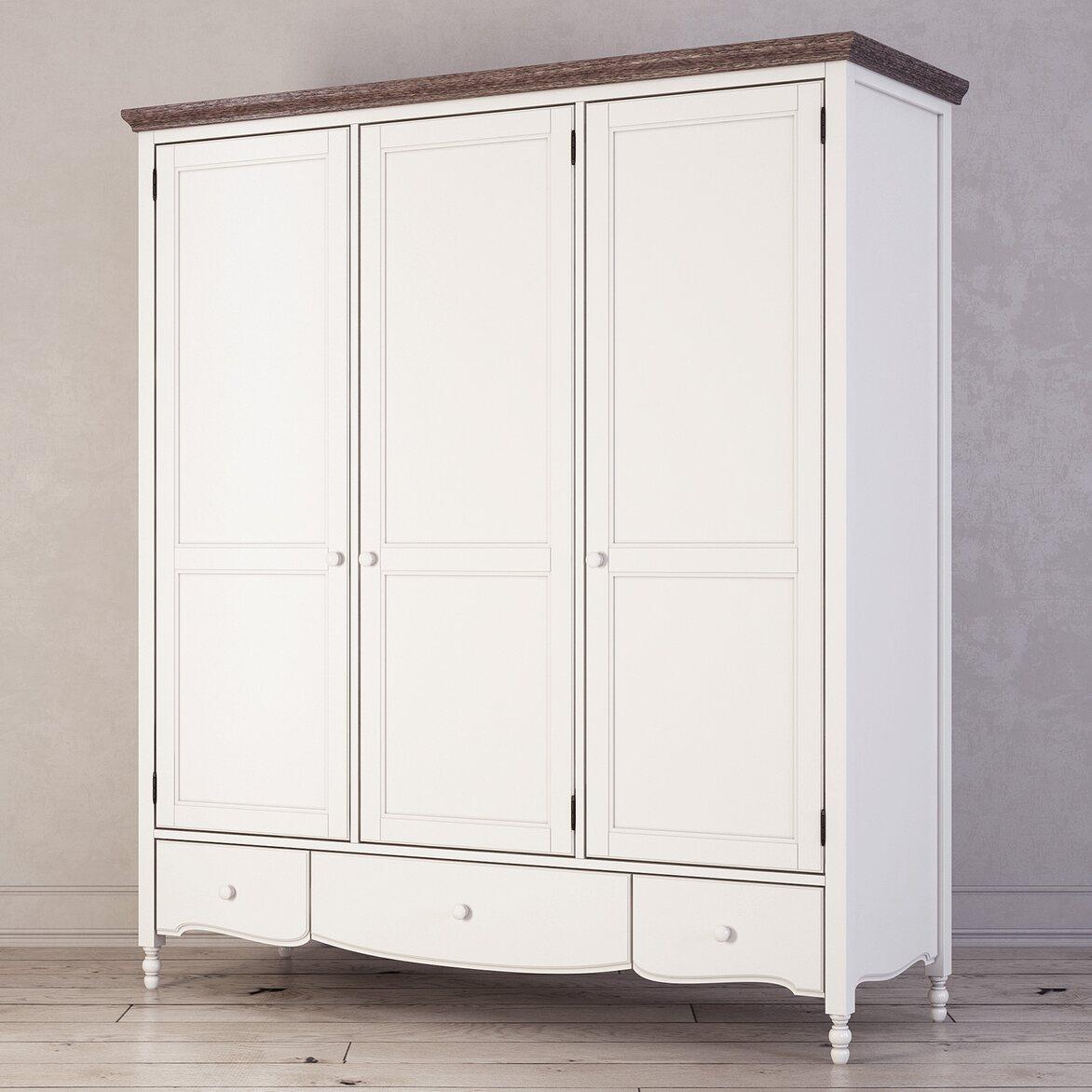 Шкаф трехстворчатый Leblanc, белый 2 | Платяные шкафы Kingsby
