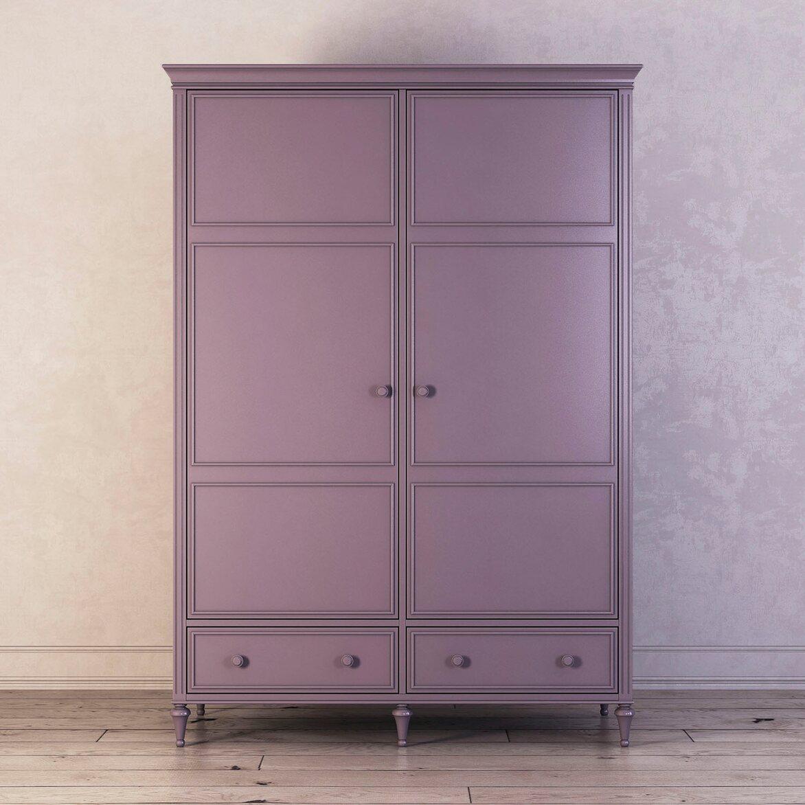 Шкаф двухстворчатый Riverdi, орхидея | Платяные шкафы Kingsby
