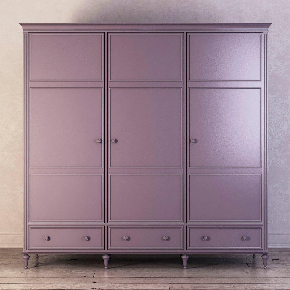 Шкаф трехстворчатый Riverdi, орхидея | Платяные шкафы Kingsby