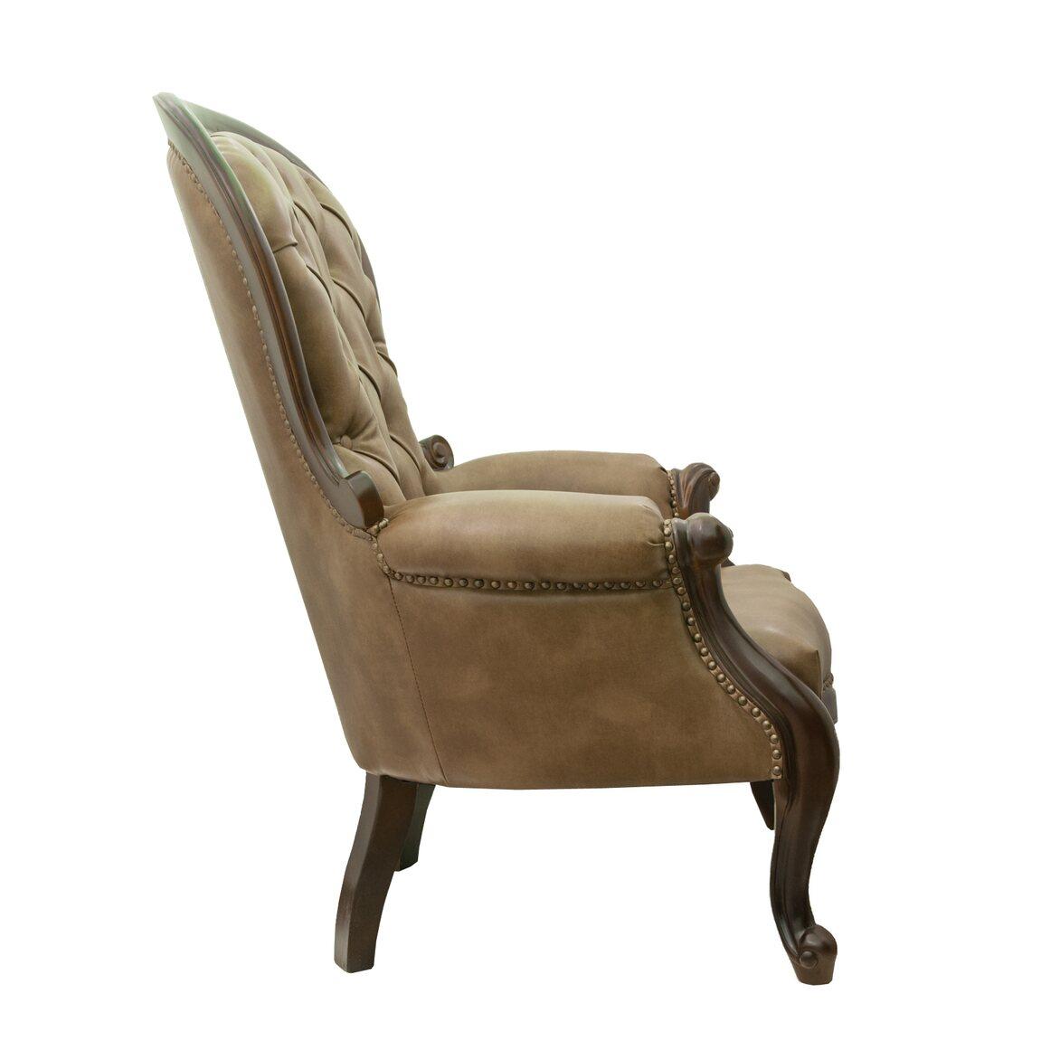 Классическое кресло Madre brown 2 | Каминные кресла Kingsby