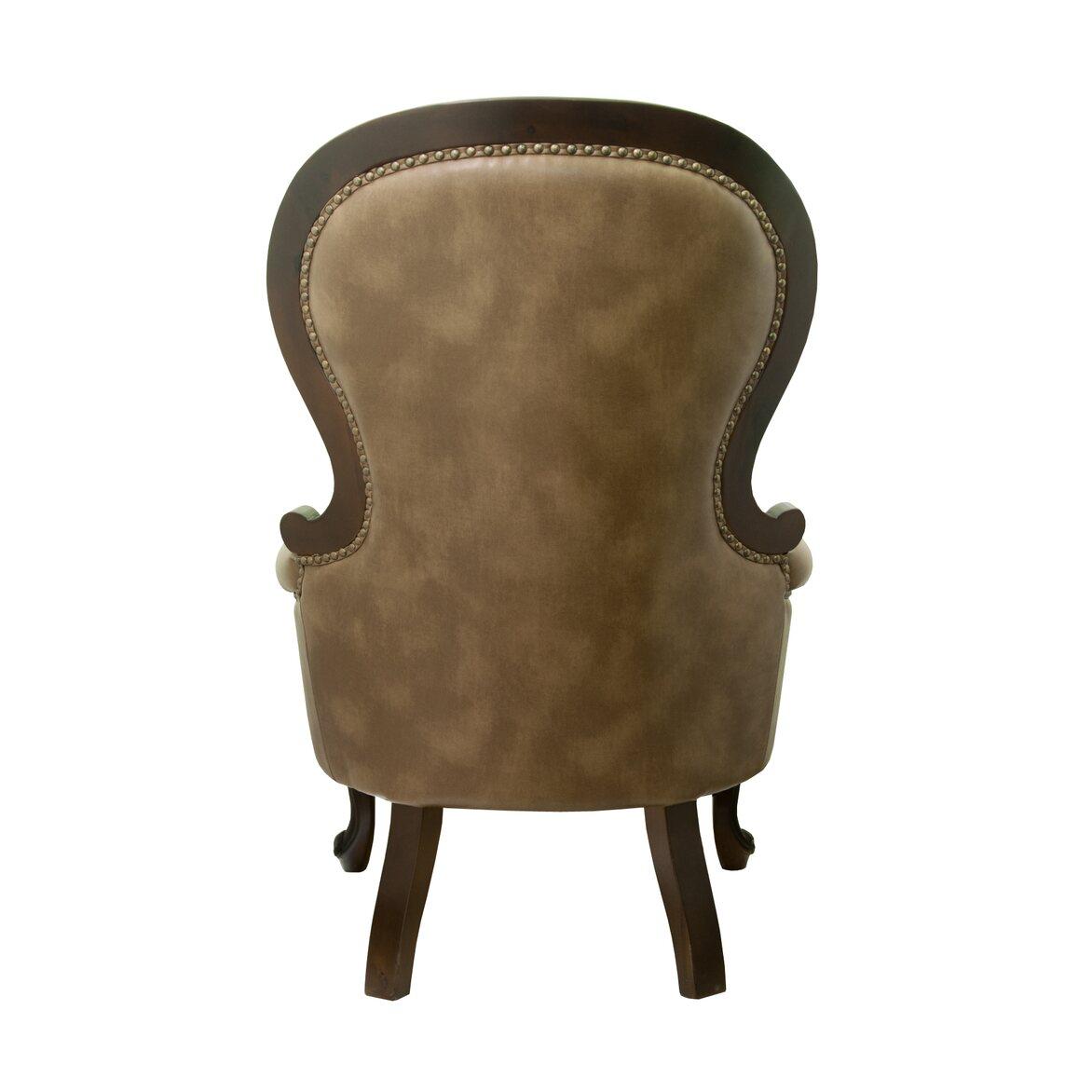 Классическое кресло Madre brown 3 | Каминные кресла Kingsby