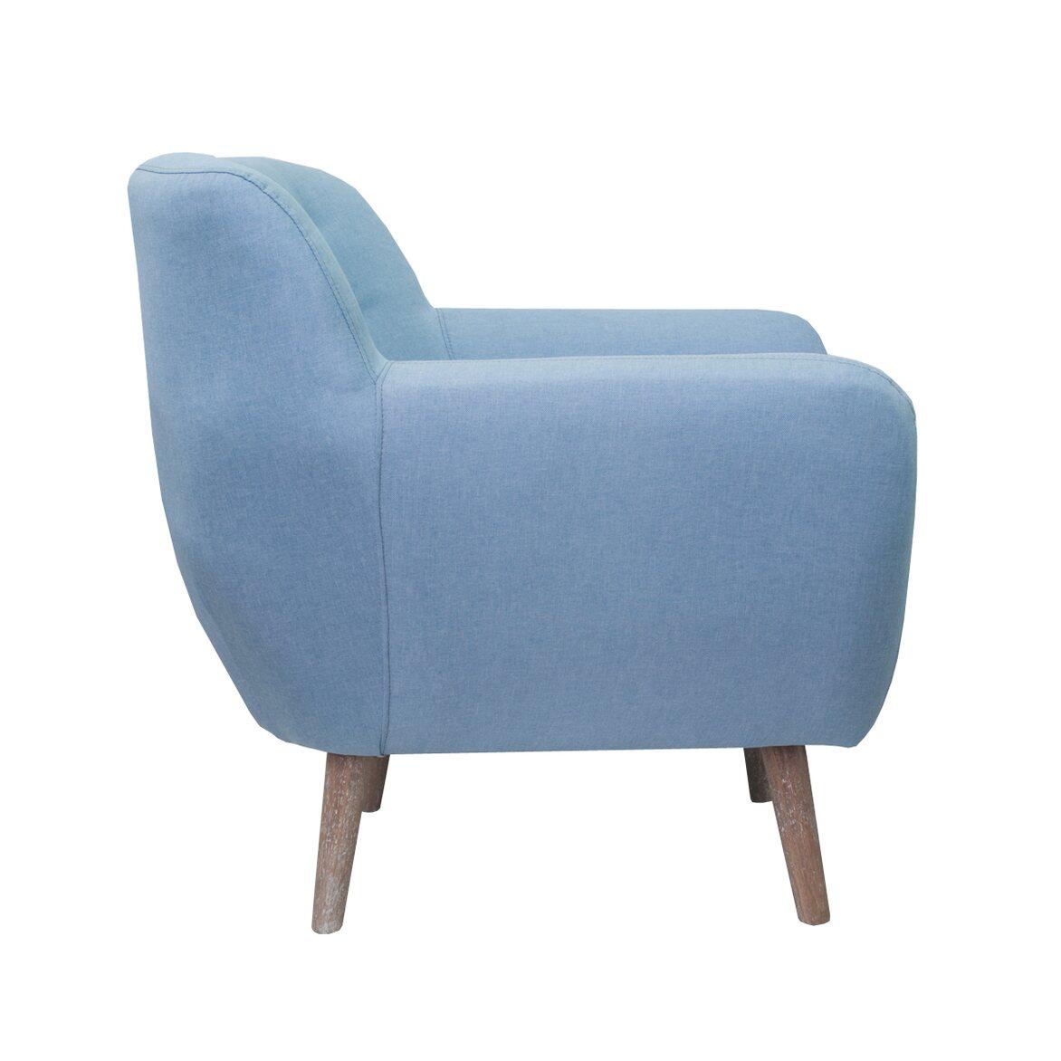 Низкое кресло Fuller blue 2 | Маленькие кресла Kingsby