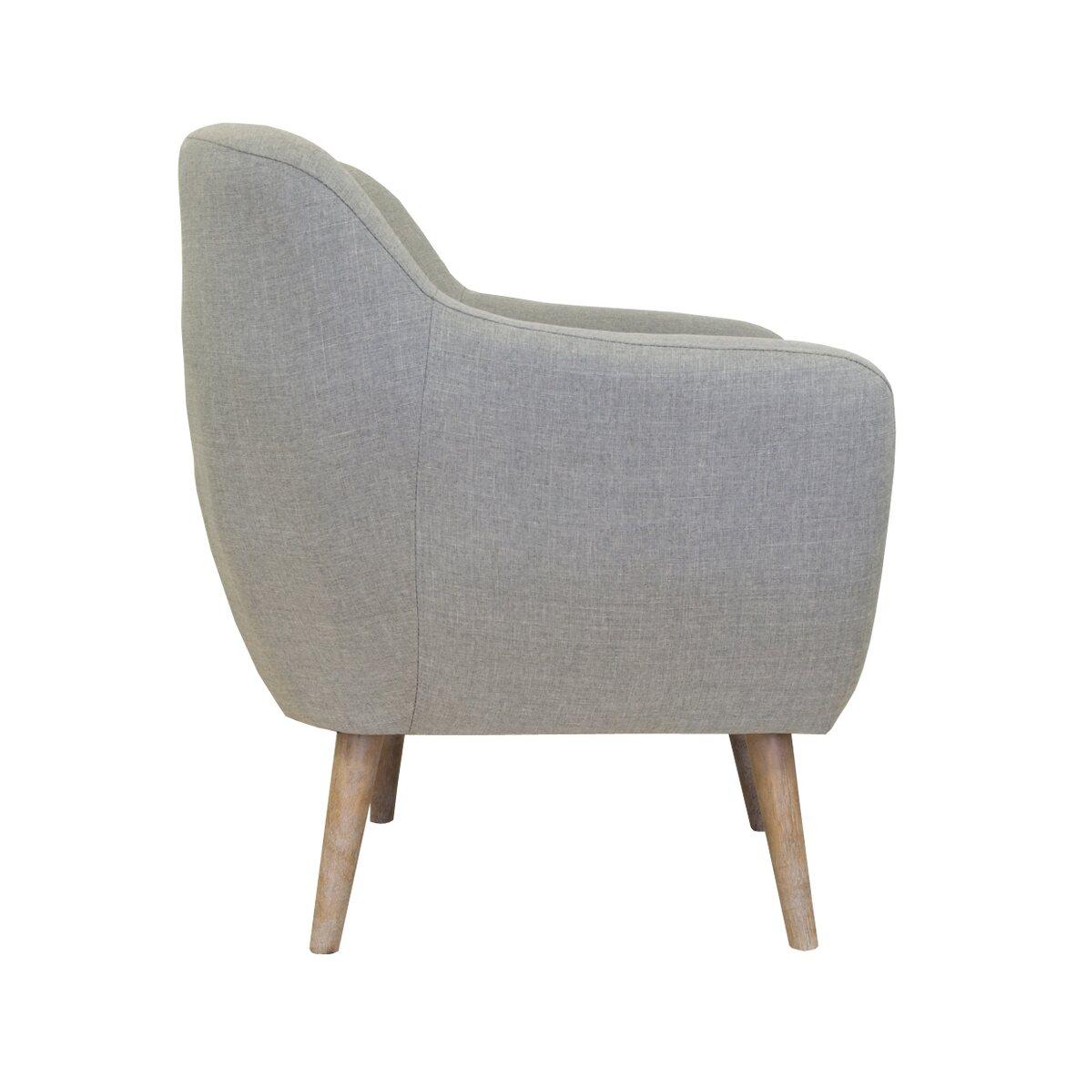 Низкое кресло Fuller grey 2 | Маленькие кресла Kingsby