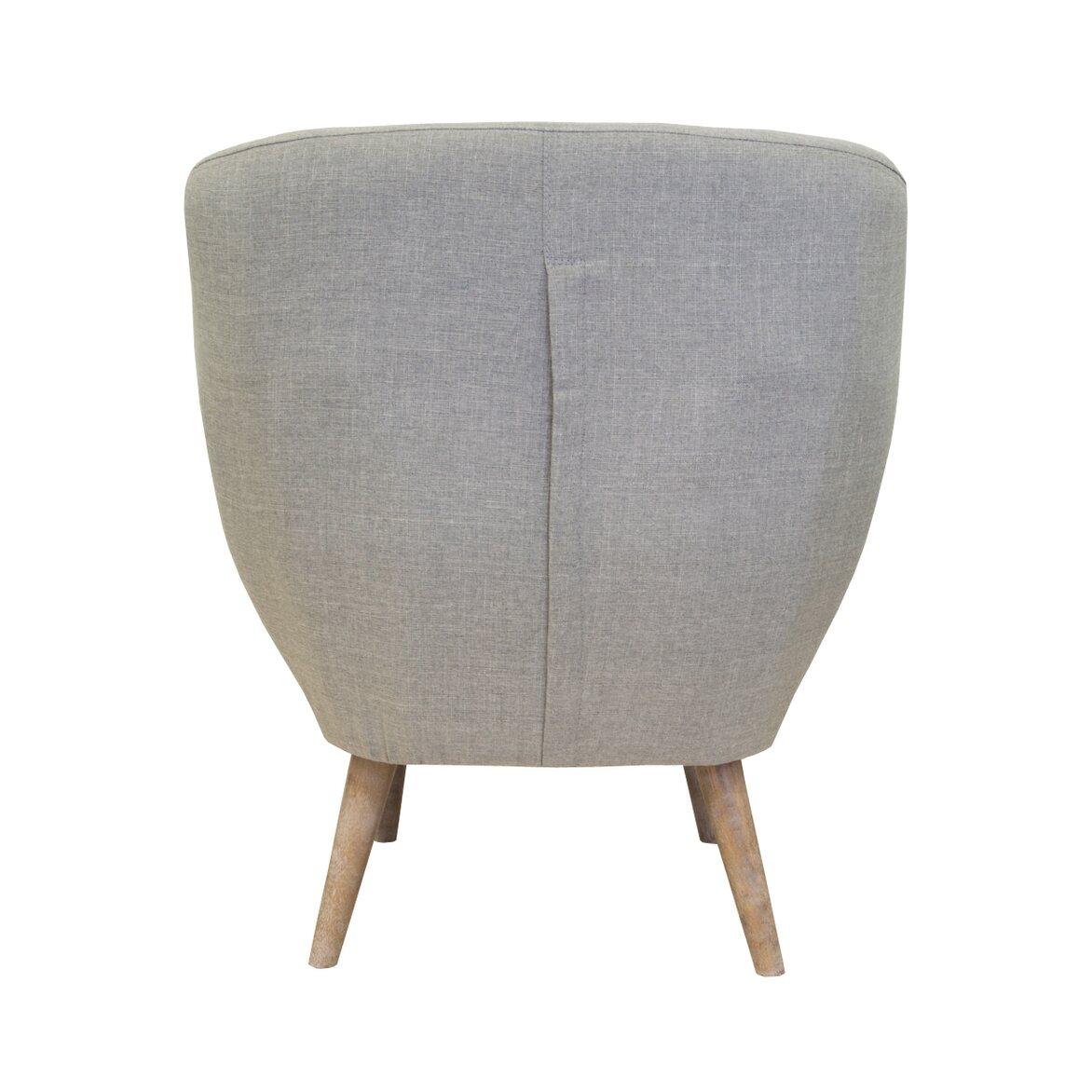 Низкое кресло Fuller grey 4 | Маленькие кресла Kingsby
