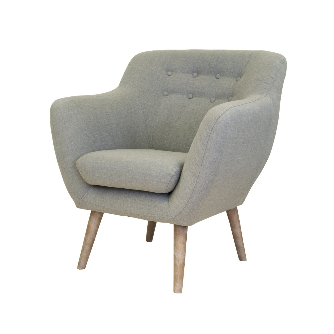 Низкое кресло Fuller grey 3 | Маленькие кресла Kingsby