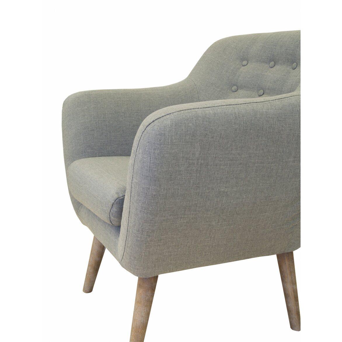 Низкое кресло Fuller grey 6 | Маленькие кресла Kingsby
