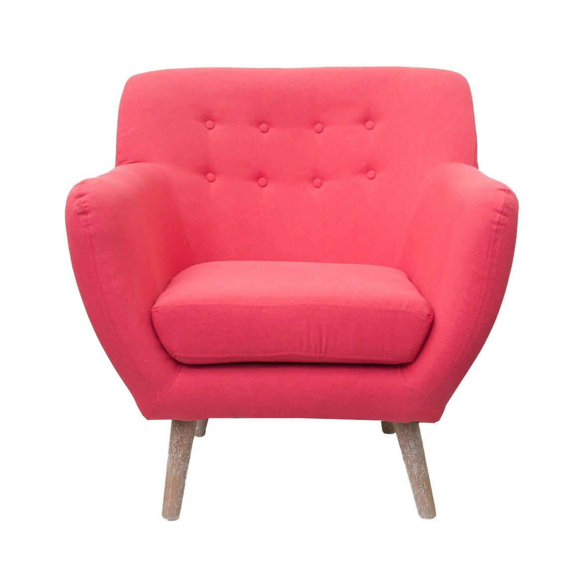 Низкое кресло Fuller red   Маленькие кресла Kingsby