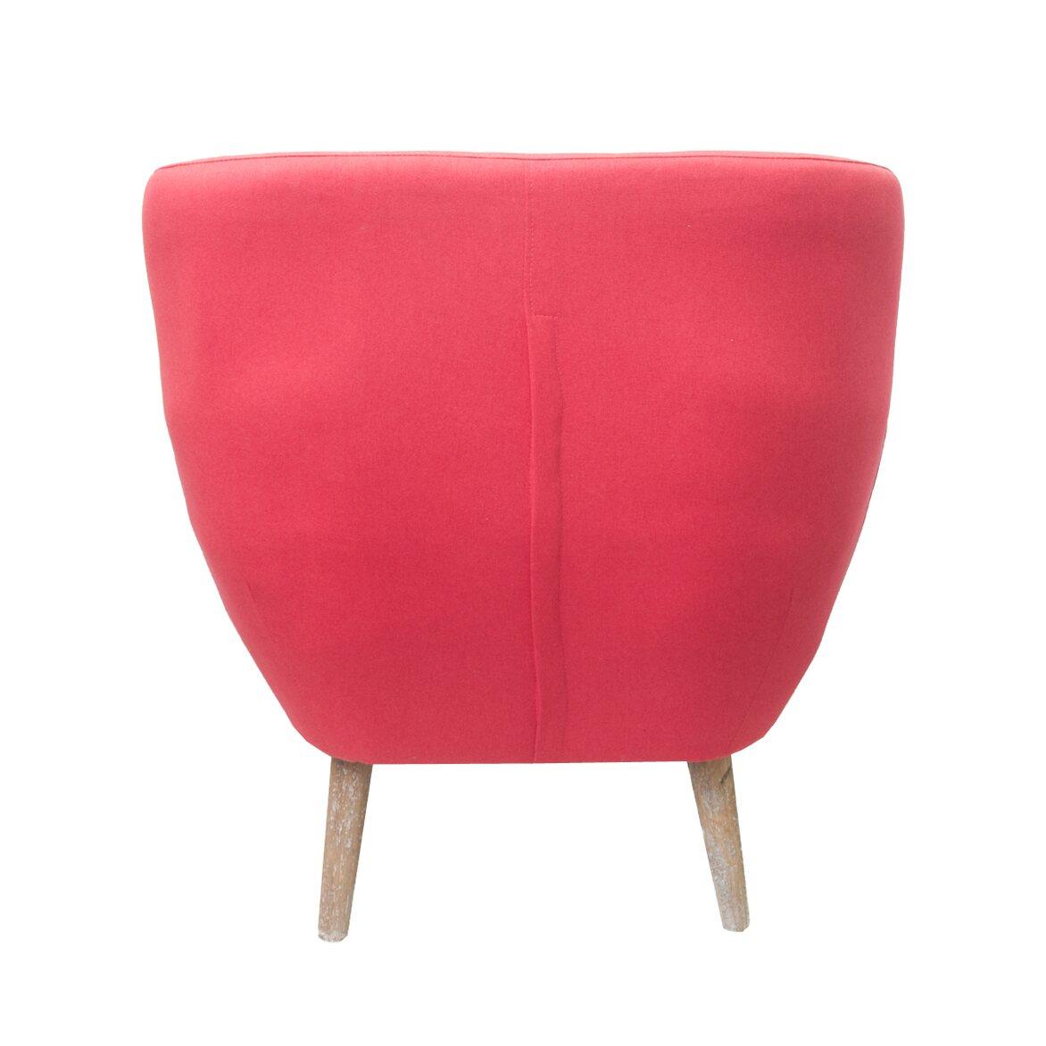 Низкое кресло Fuller red 3   Маленькие кресла Kingsby