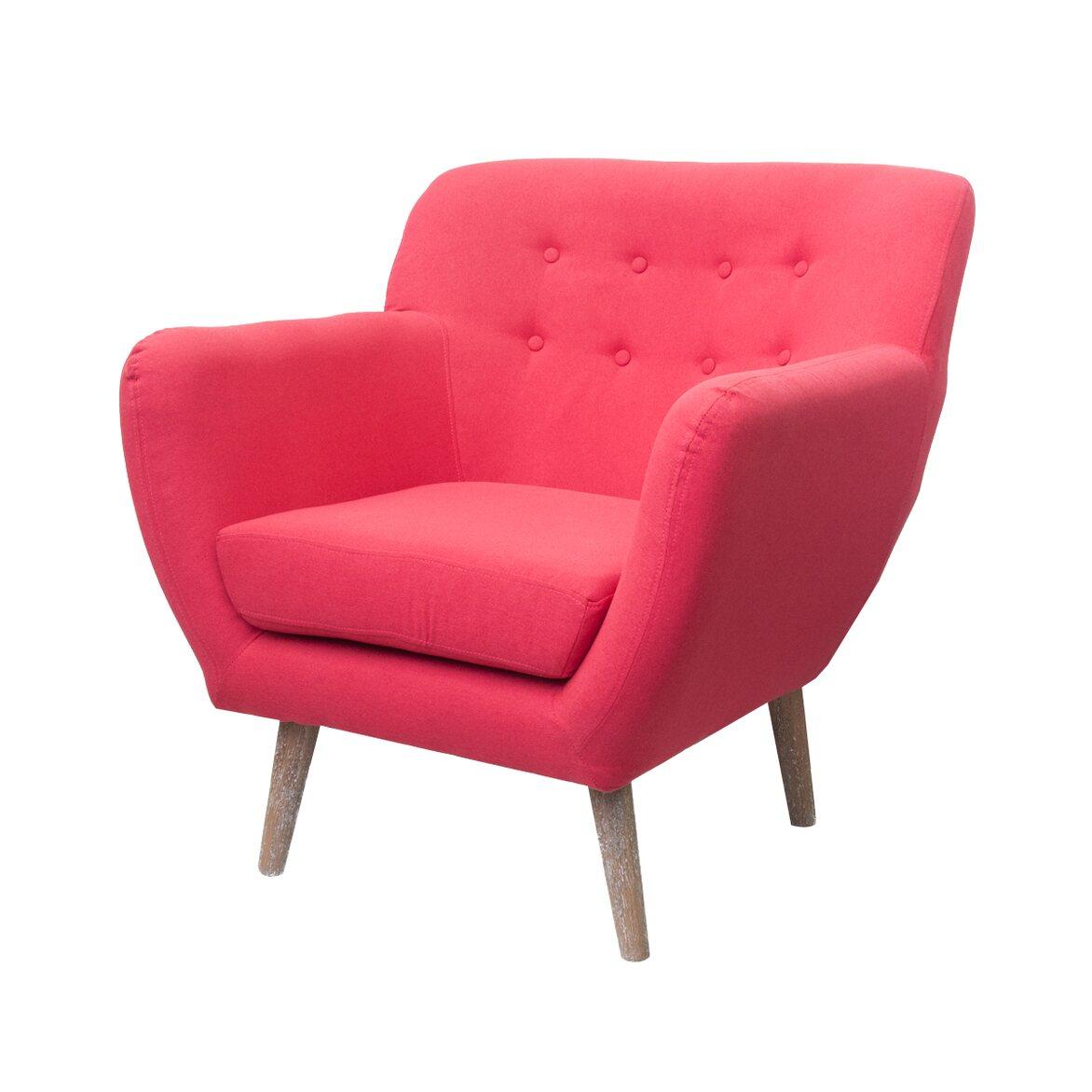 Низкое кресло Fuller red 4   Маленькие кресла Kingsby