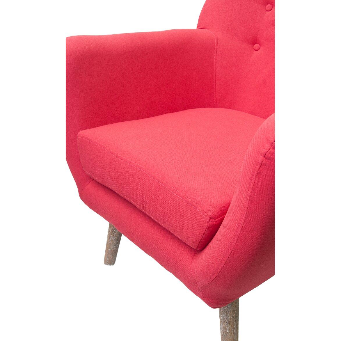 Низкое кресло Fuller red 5   Маленькие кресла Kingsby