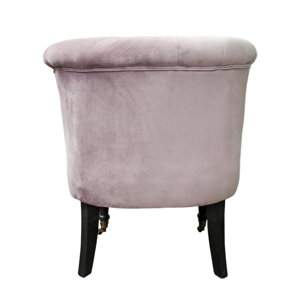 Низкое кресло Aviana pink velvet 3 | Маленькие кресла Kingsby