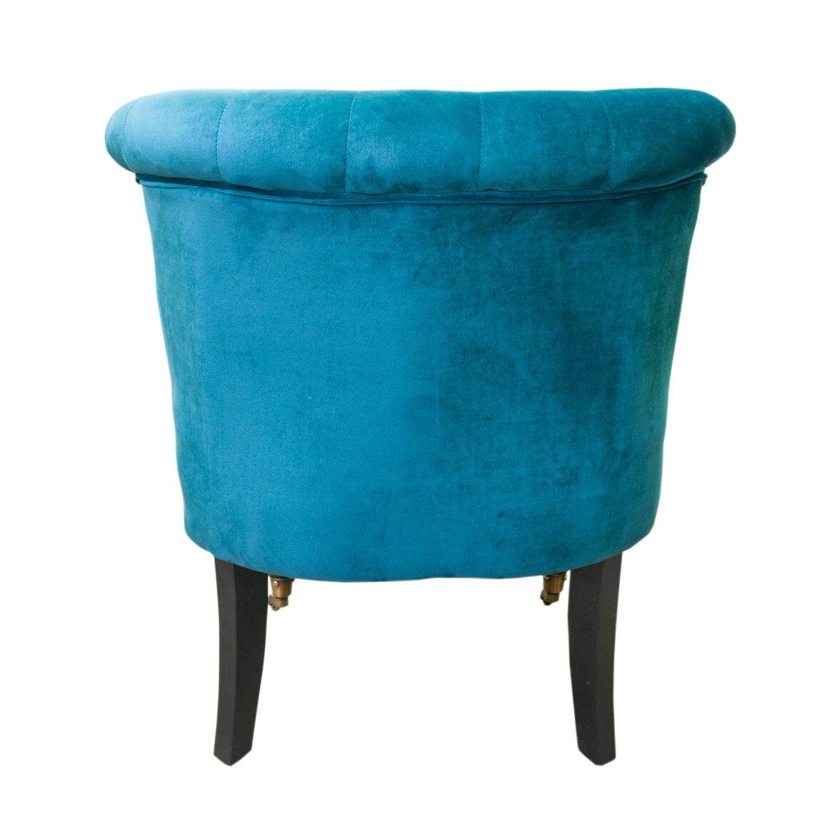 Низкое кресло Aviana Blue Velvet 3 | Маленькие кресла Kingsby