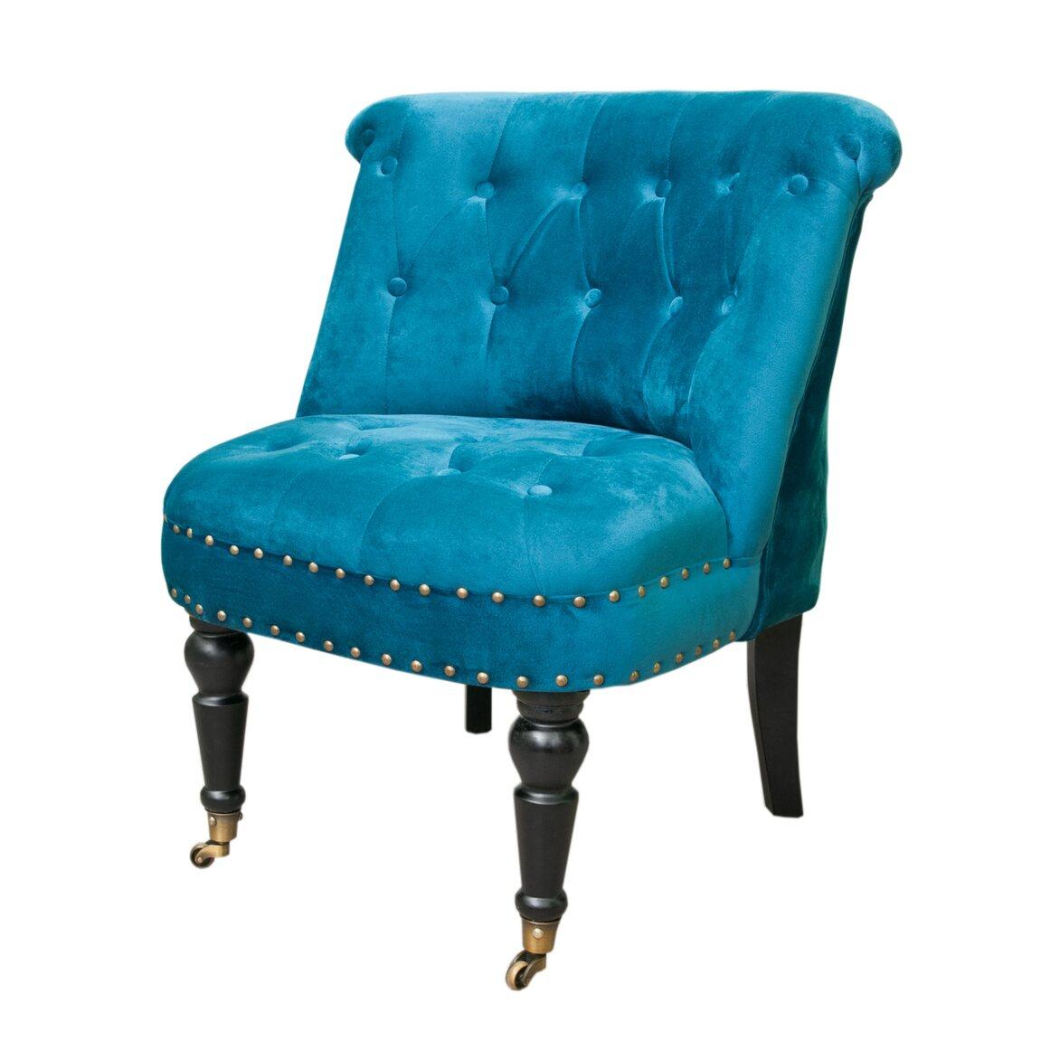 Низкое кресло Aviana Blue Velvet 4 | Маленькие кресла Kingsby