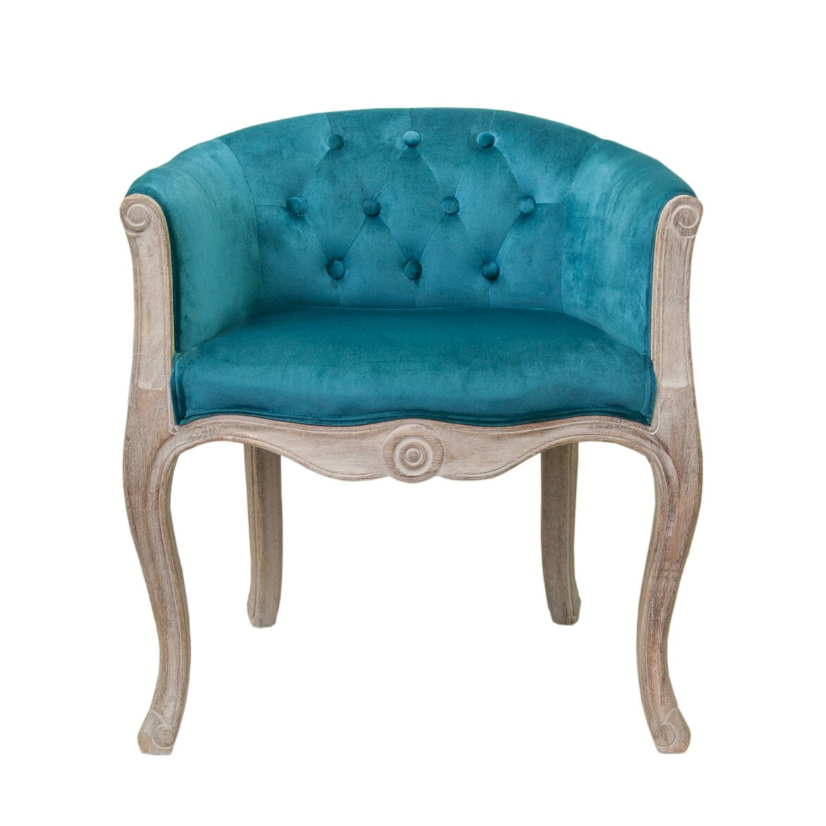 Низкое кресло Kandy blue velvet   Маленькие кресла Kingsby
