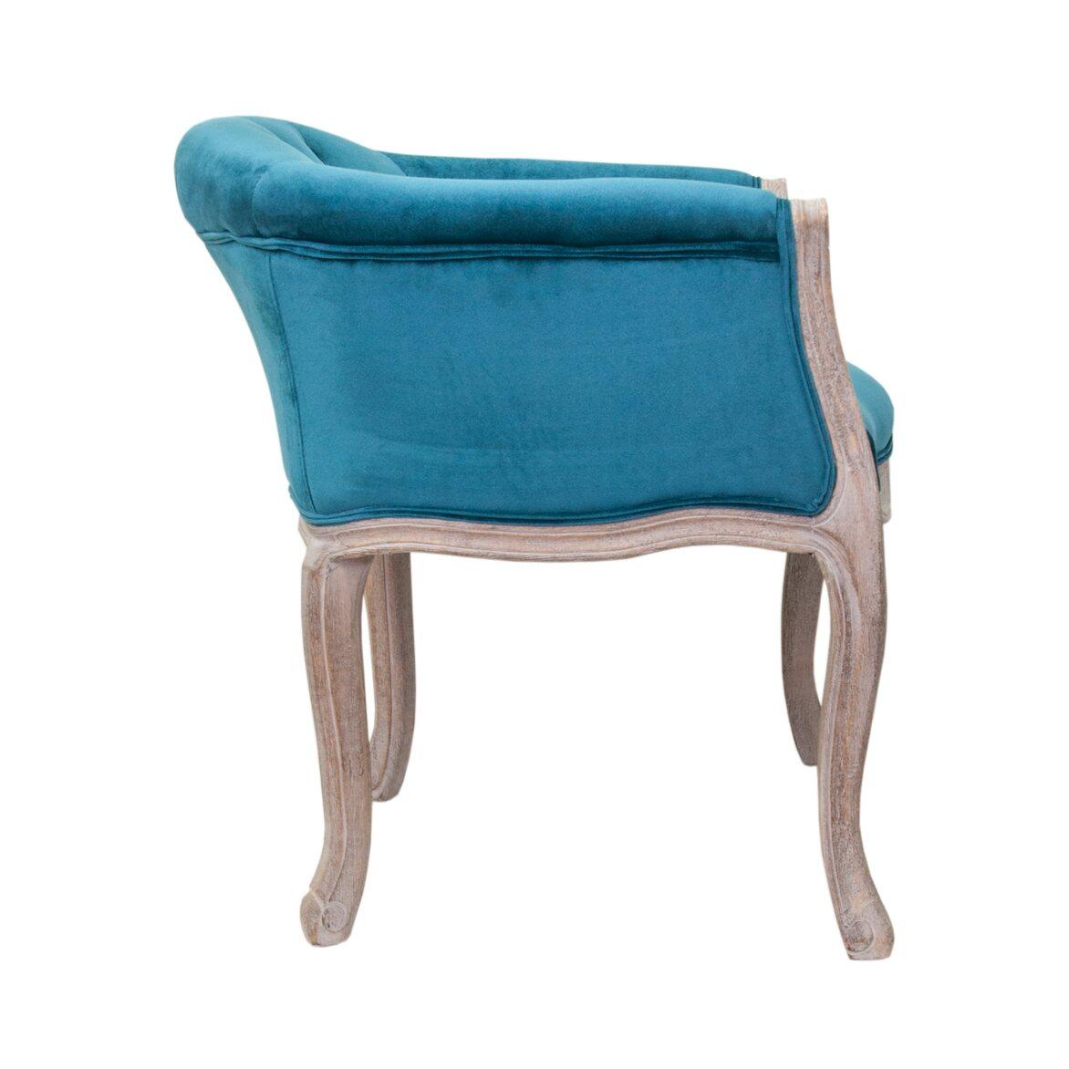 Низкое кресло Kandy blue velvet 2   Маленькие кресла Kingsby