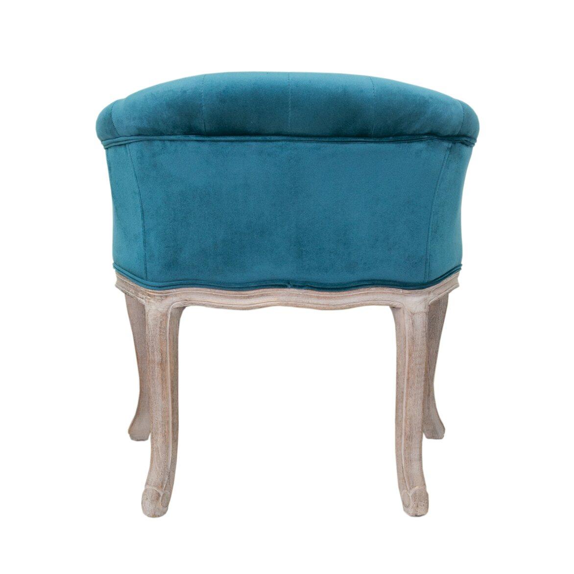 Низкое кресло Kandy blue velvet 3   Маленькие кресла Kingsby