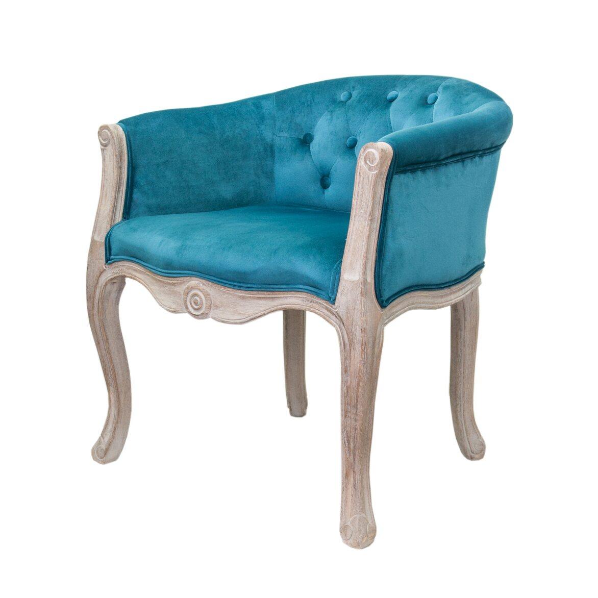 Низкое кресло Kandy blue velvet 4   Маленькие кресла Kingsby