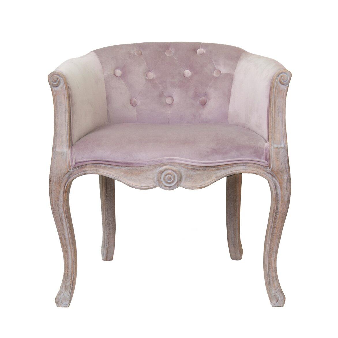 Низкое кресло Kandy pink velvet   Маленькие кресла Kingsby