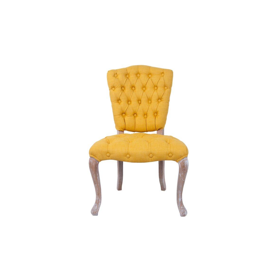 Стул Gamila yellow | Обеденные стулья Kingsby