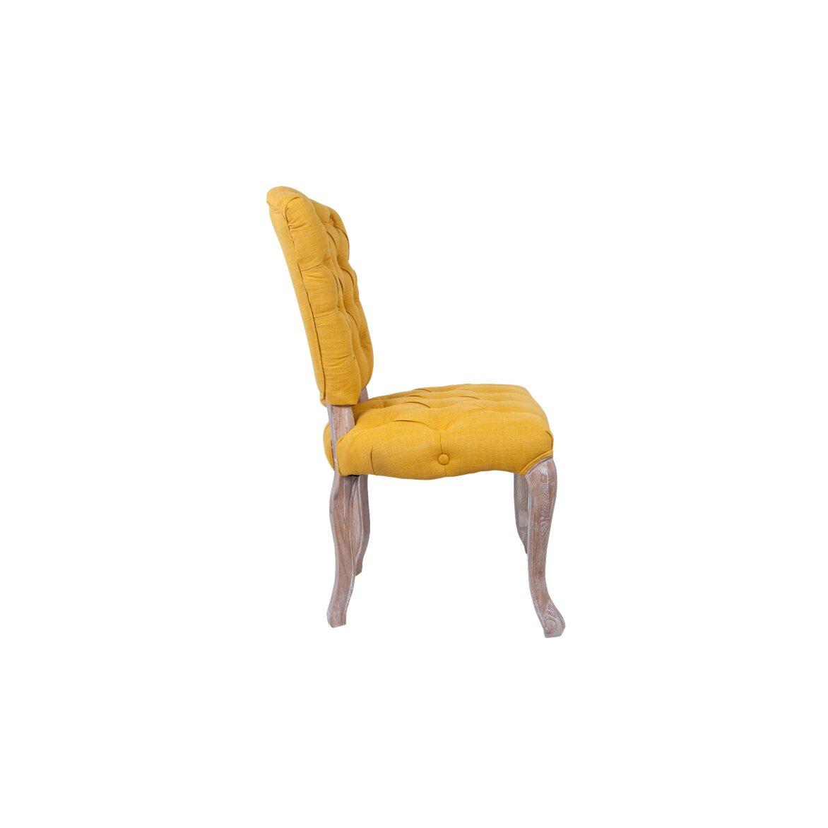 Стул Gamila yellow 2 | Обеденные стулья Kingsby
