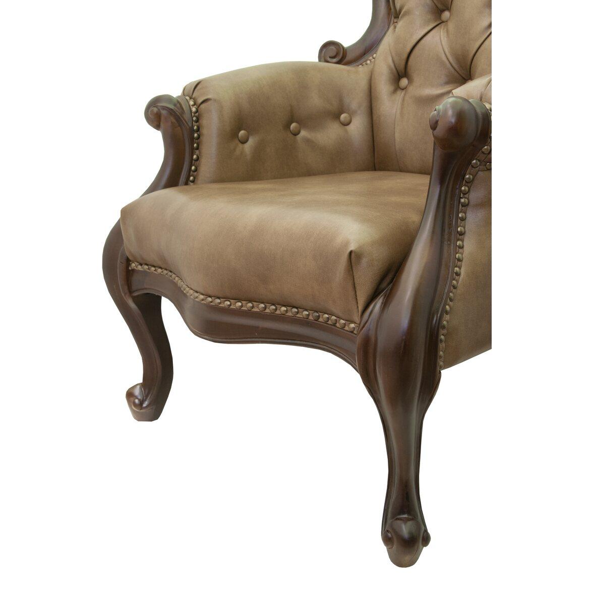 Классическое кресло Madre brown 6 | Каминные кресла Kingsby