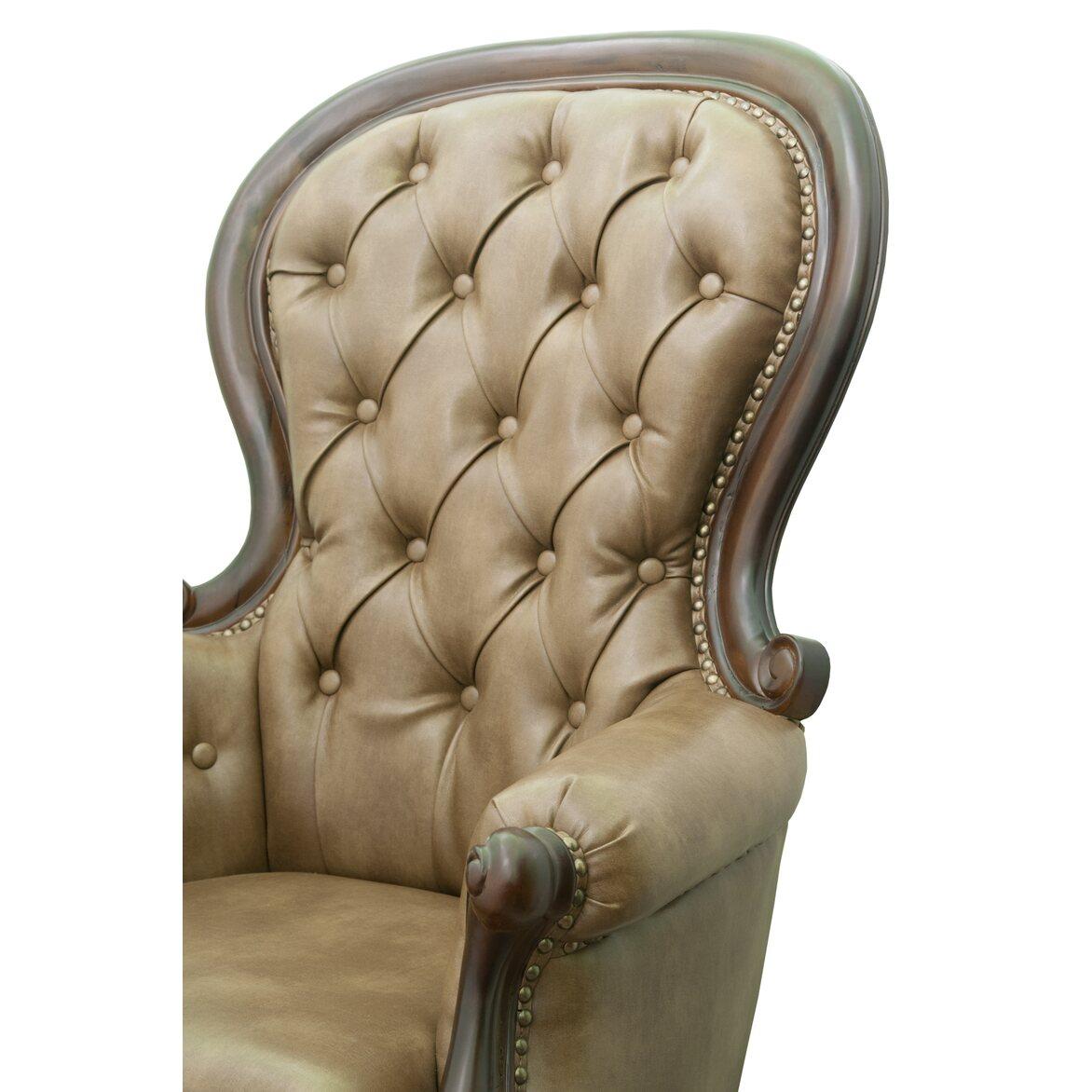 Классическое кресло Madre brown 5 | Каминные кресла Kingsby
