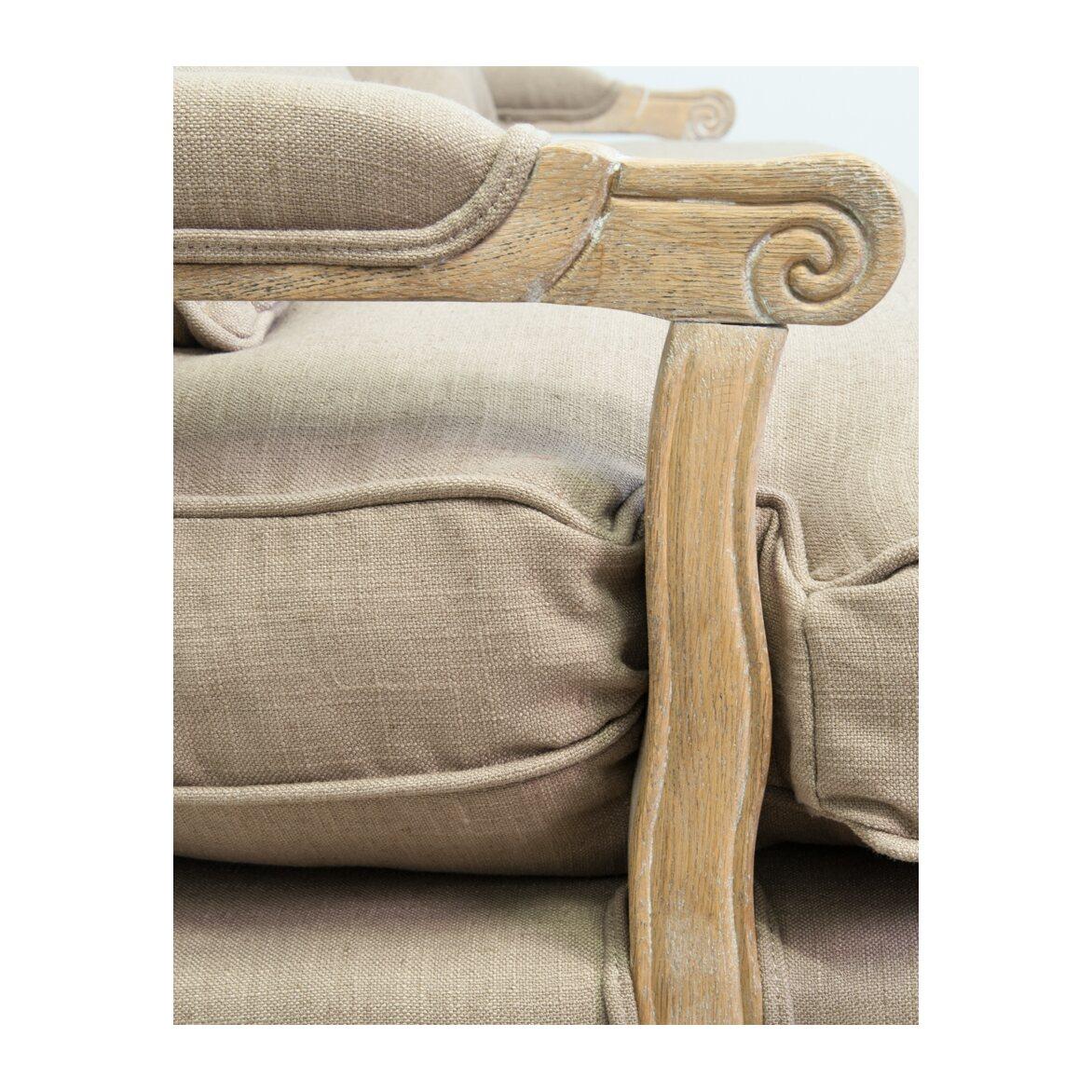 Двухместный диван Yareli brown 3   Прямые диваны Kingsby