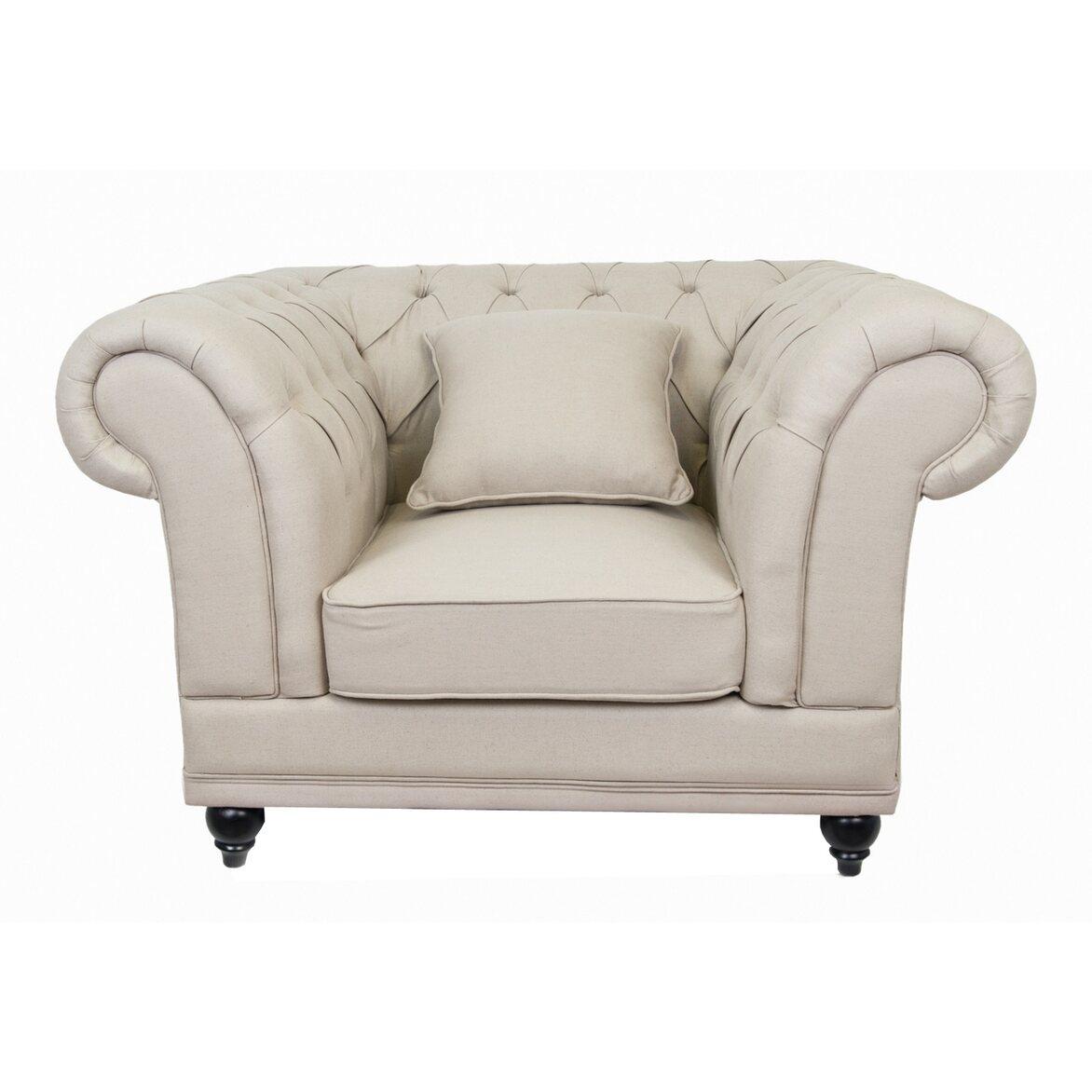 Кресло Dasen beige 3 | Каминные кресла Kingsby