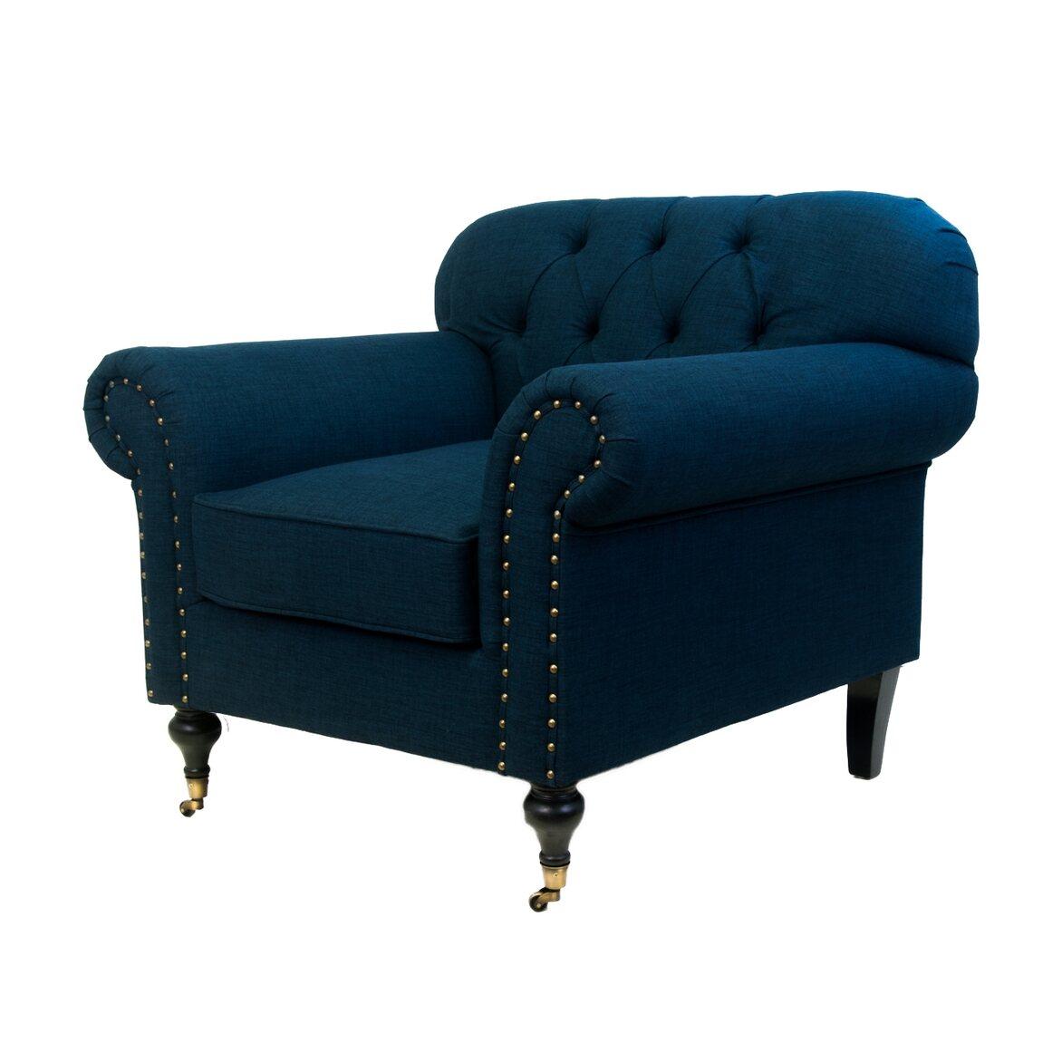 Кресло Kavita dark blue 2   Каминные кресла Kingsby
