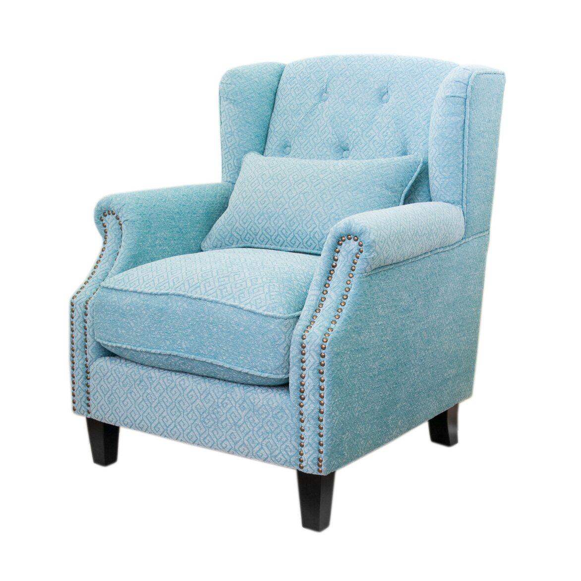 Полукресло Scott blue 4 | Каминные кресла Kingsby