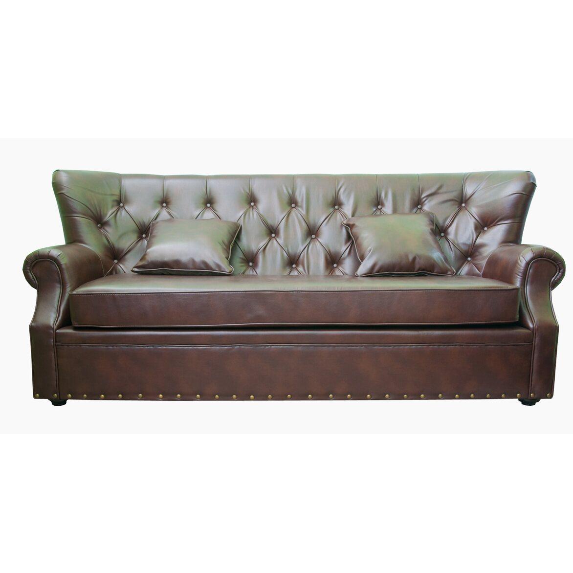 Кожаный диван Tesco | Прямые диваны Kingsby