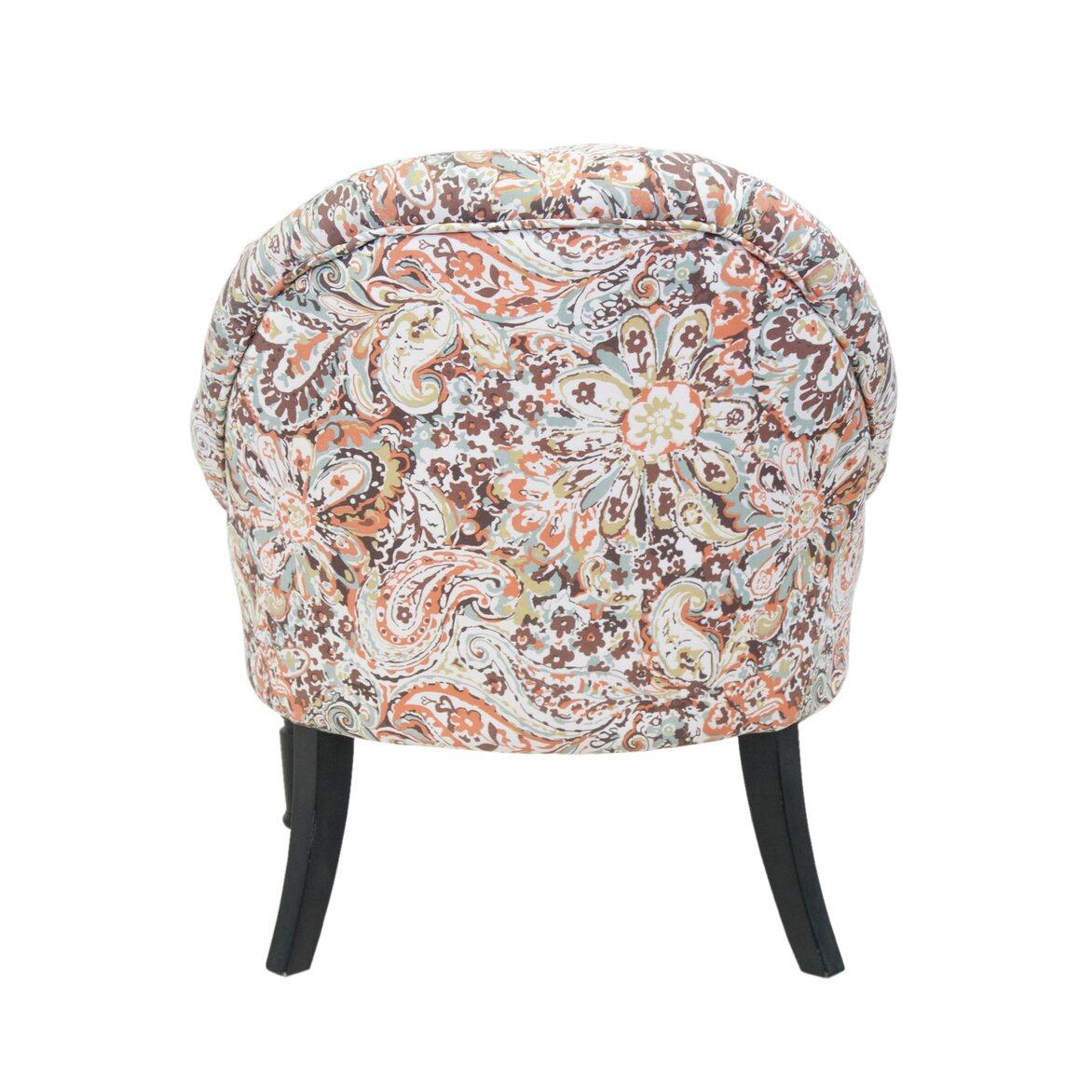 Кресло Desta orange flower 3 | Маленькие кресла Kingsby