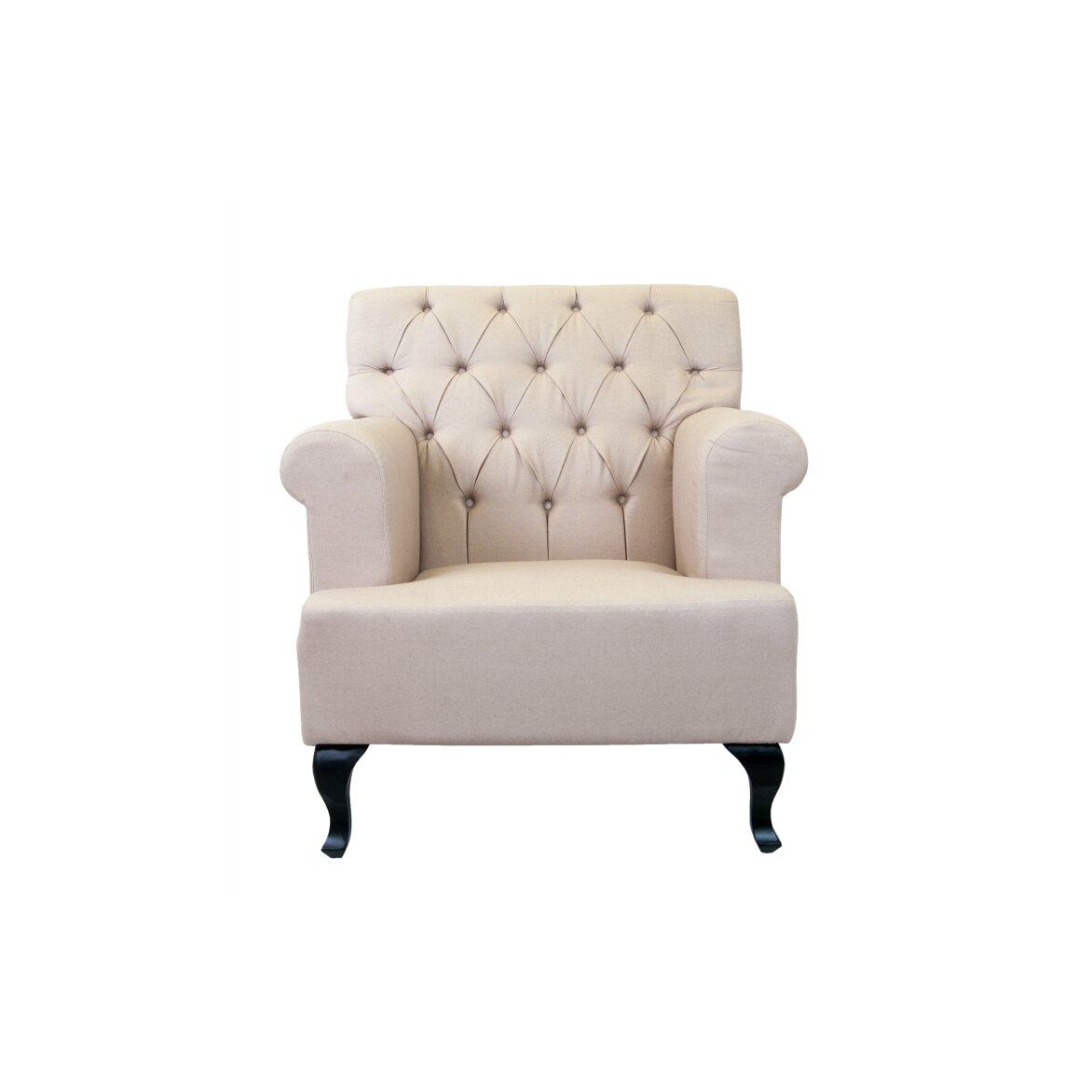 Кресло Kaniel beige | Каминные кресла Kingsby