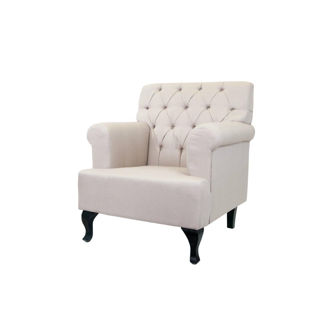 Кресло Kaniel beige 3 | Каминные кресла Kingsby