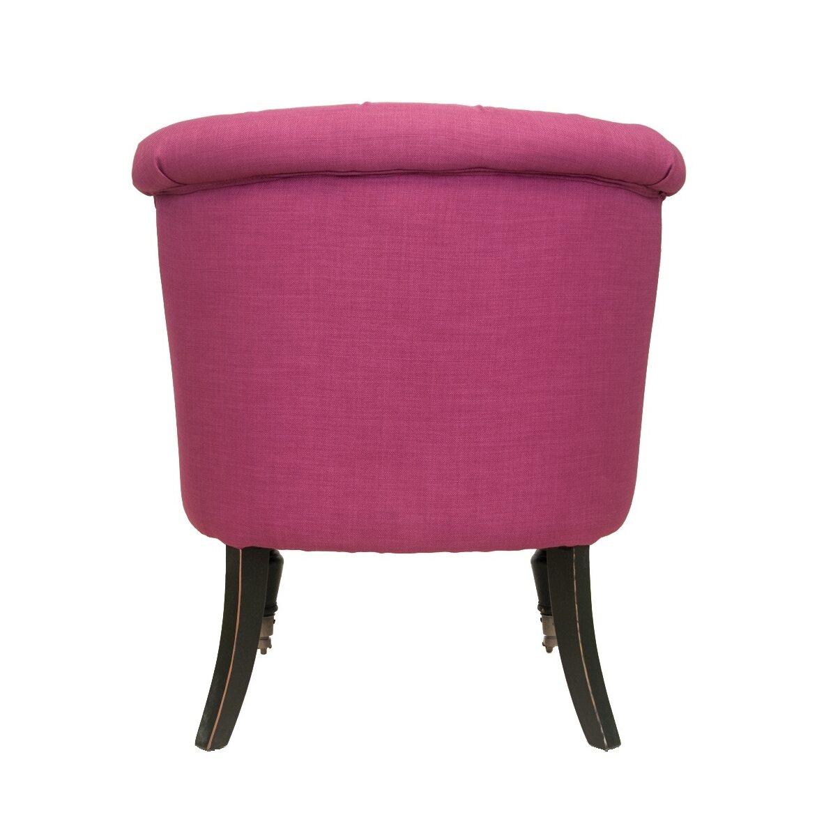 Низкое кресло Aviana pink 3 | Маленькие кресла Kingsby