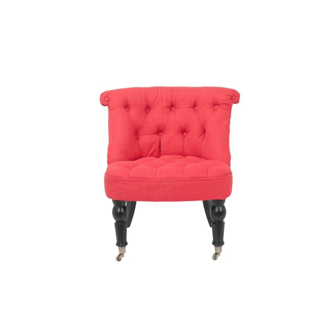 Низкое кресло Aviana red | Маленькие кресла Kingsby