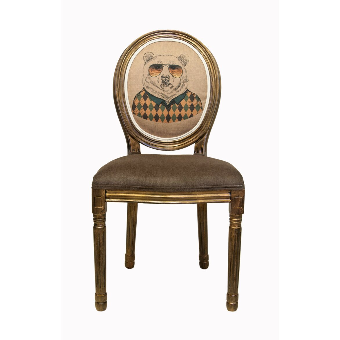 Стул Volker brown bear | Обеденные стулья Kingsby