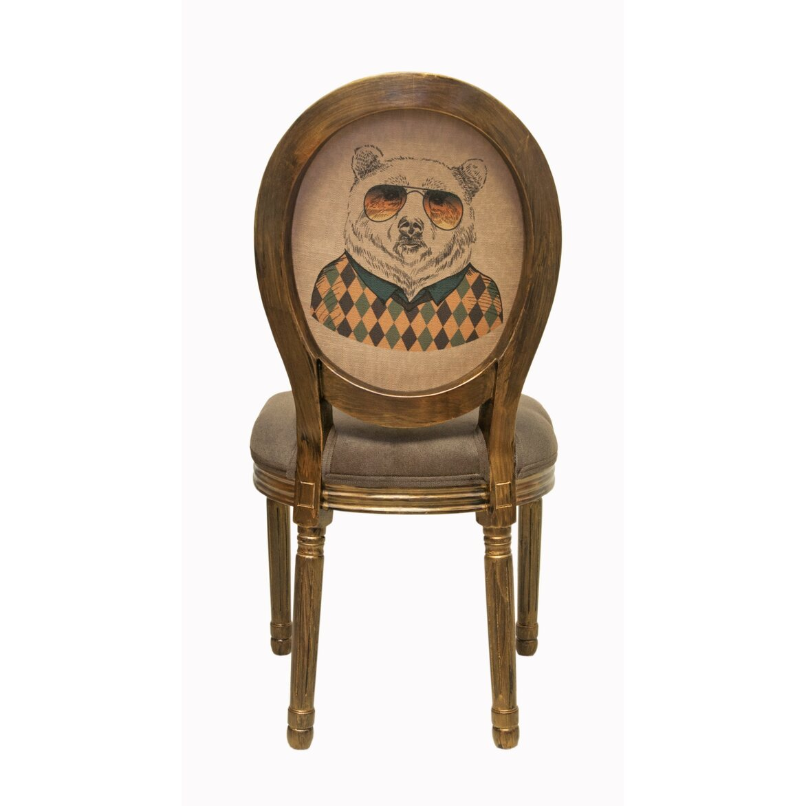 Стул Volker brown bear 3 | Обеденные стулья Kingsby