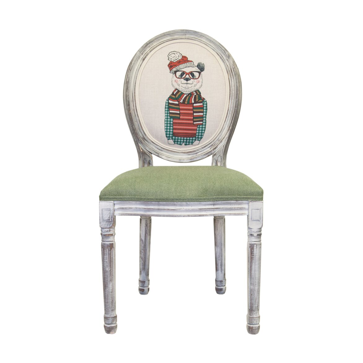 Стул Volker green bear ver.2   Обеденные стулья Kingsby