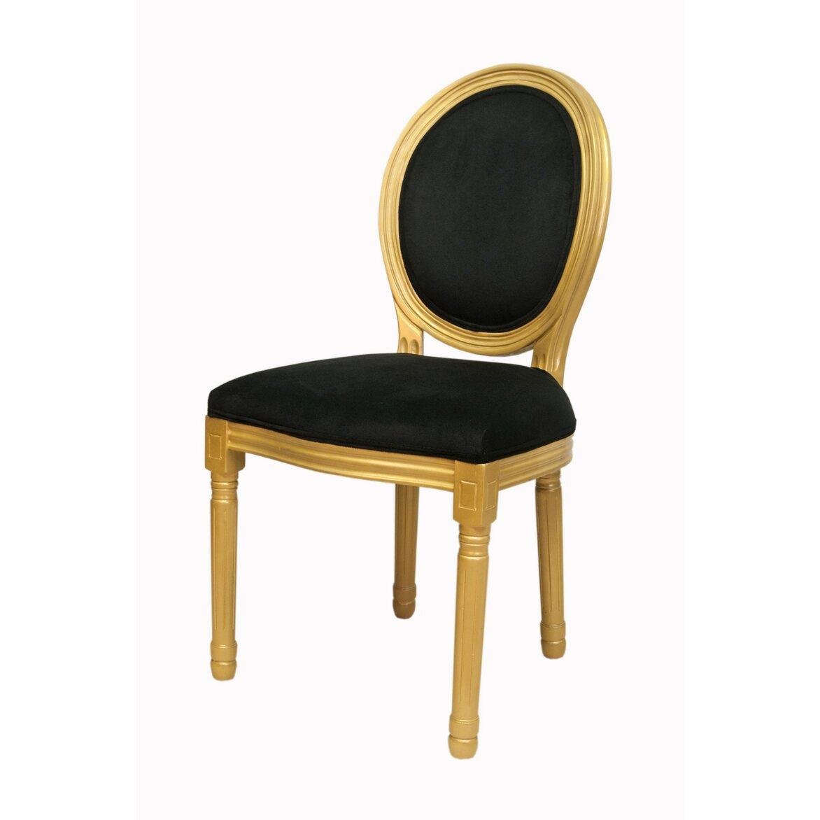 Стул Volker black gold 4 | Обеденные стулья Kingsby