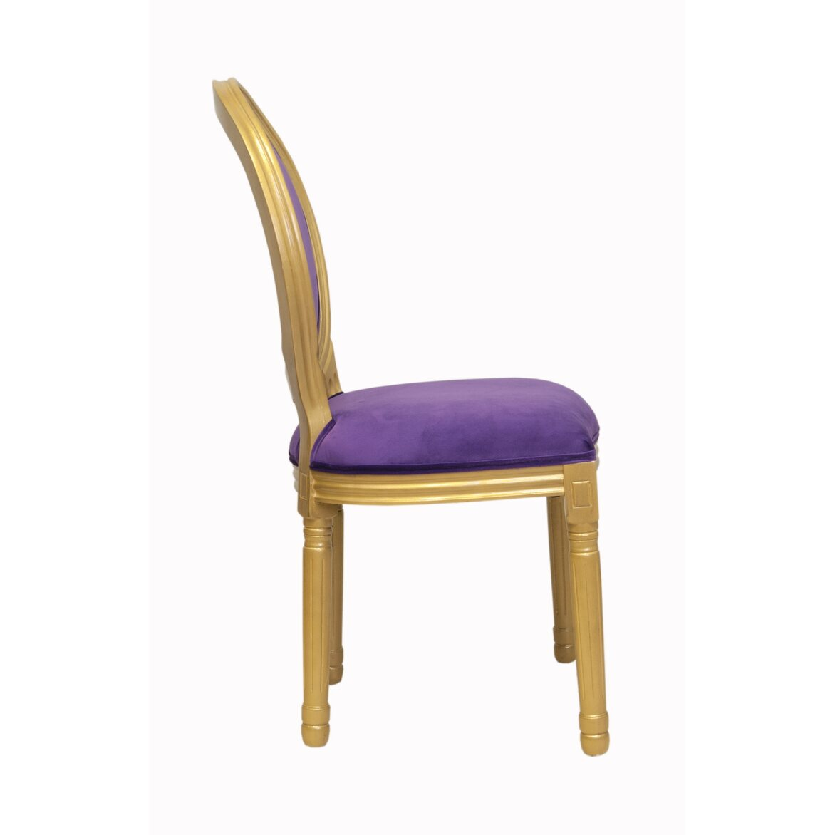 Стул Volker violet gold 2 | Обеденные стулья Kingsby