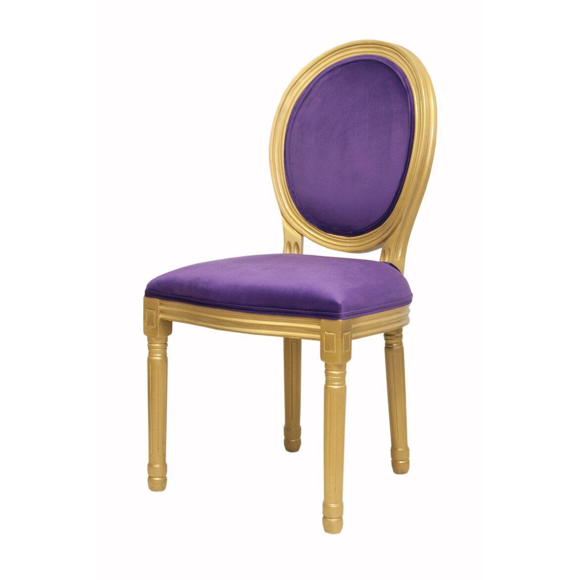Стул Volker violet gold 4 | Обеденные стулья Kingsby