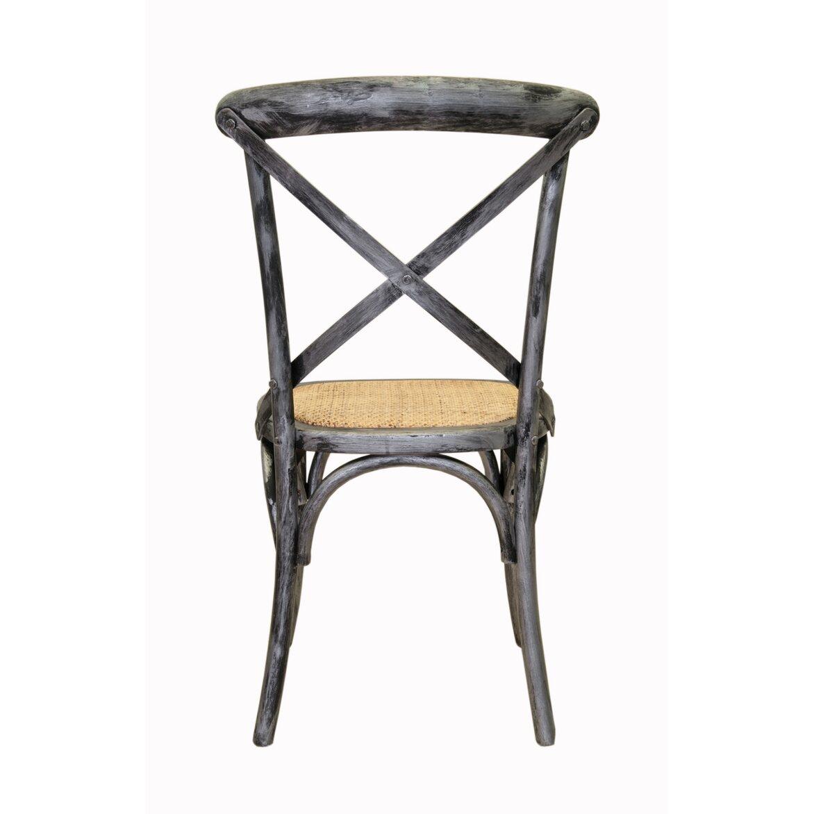 Стул Cross back silver 3 | Обеденные стулья Kingsby
