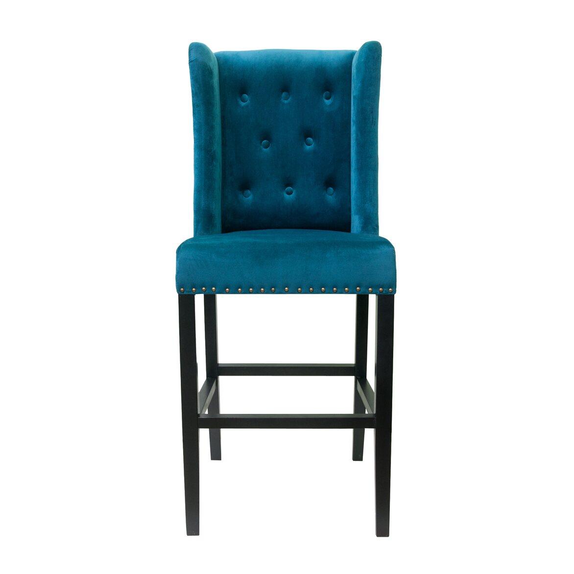 Стул Skipton blue velvet   Барные стулья Kingsby