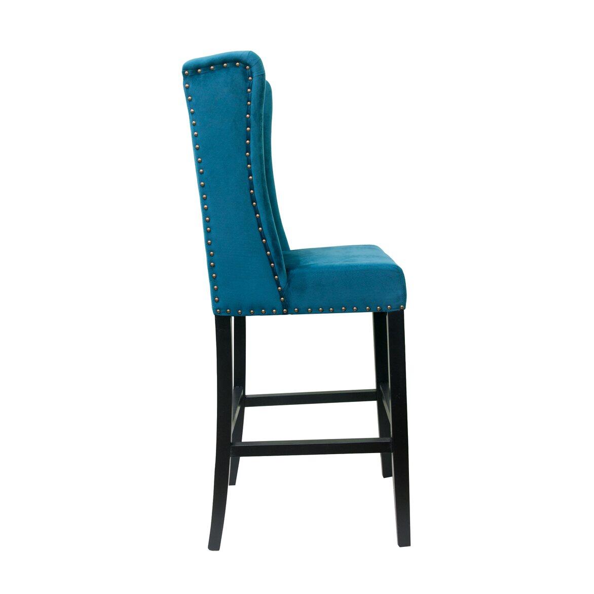 Стул Skipton blue velvet 2   Барные стулья Kingsby