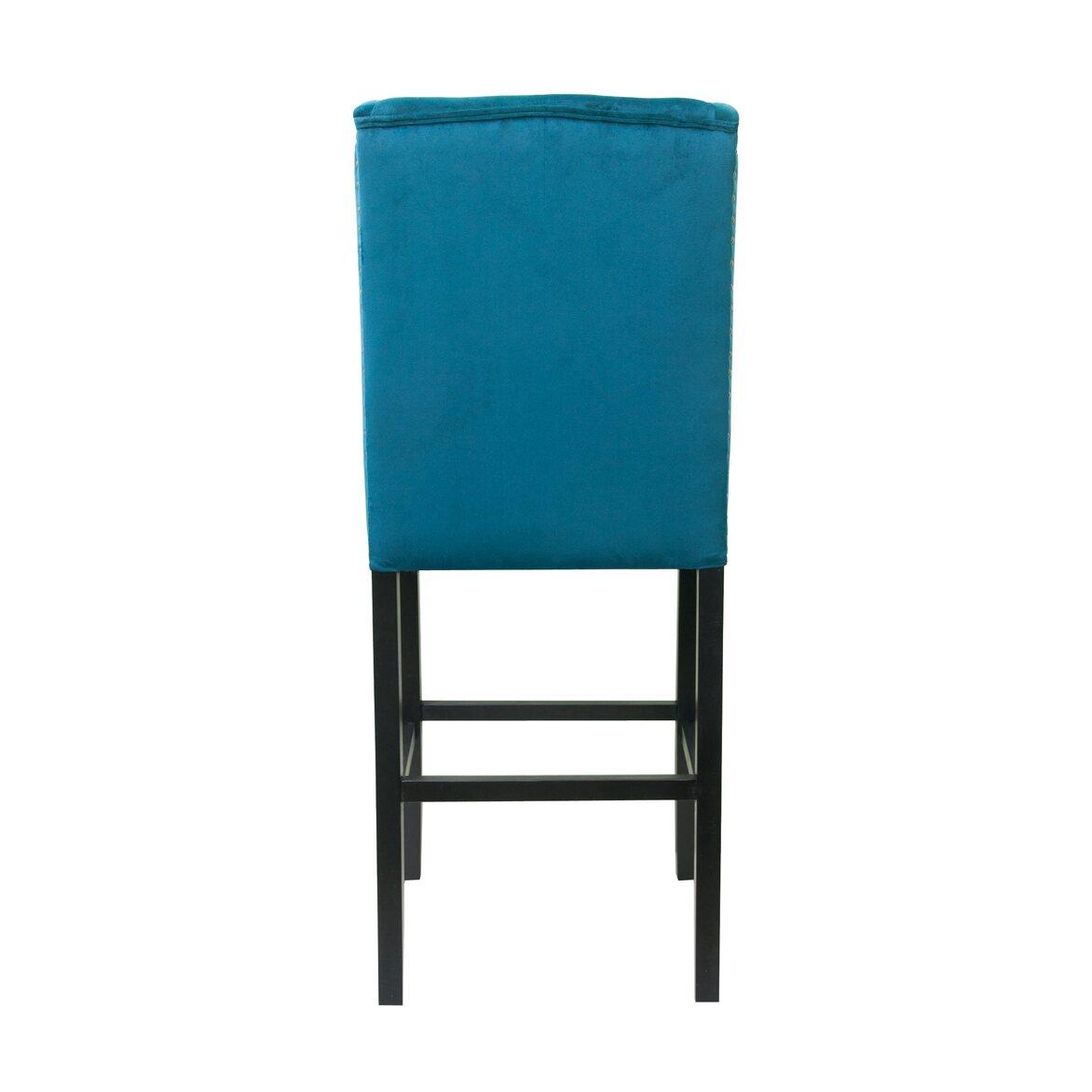 Стул Skipton blue velvet 3   Барные стулья Kingsby