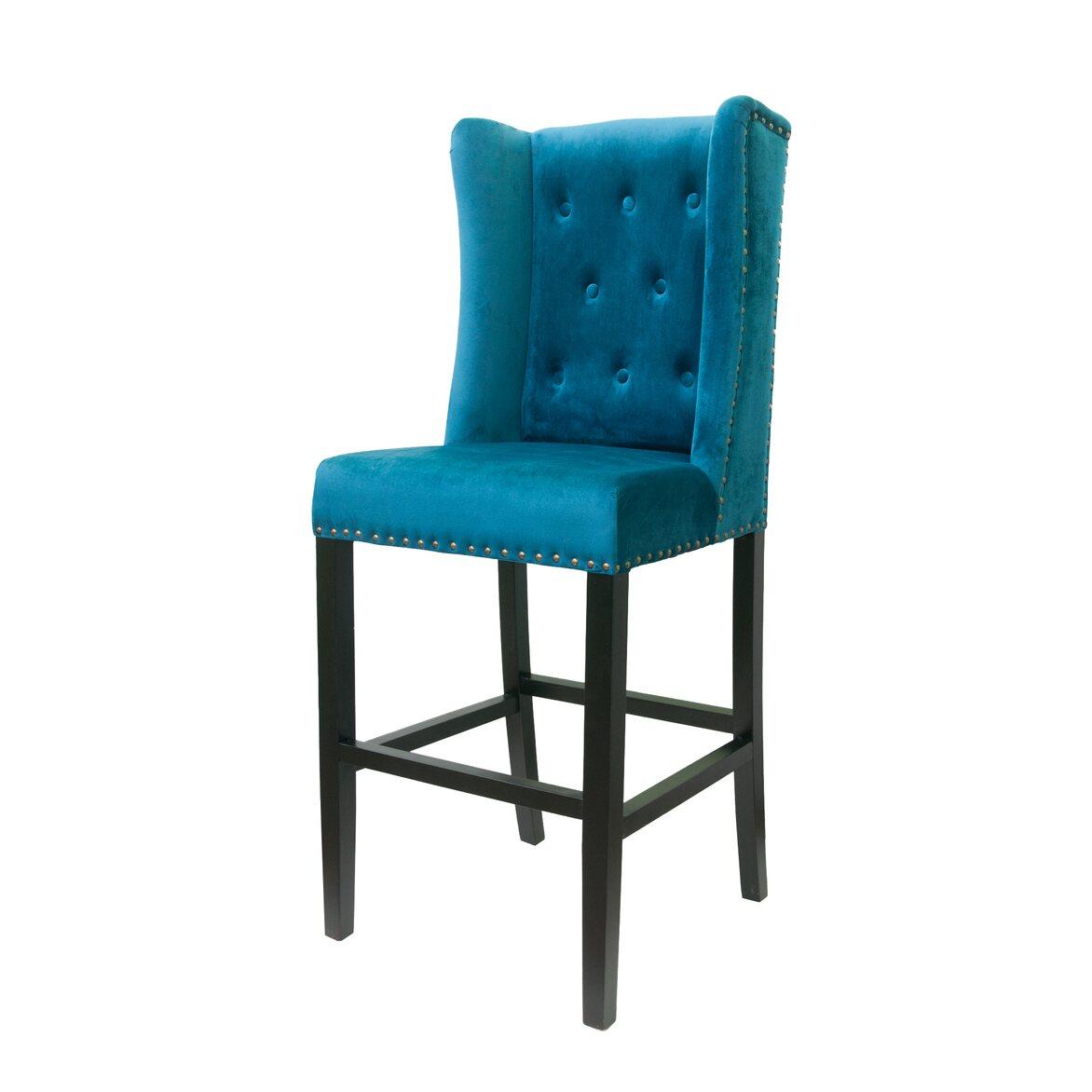 Стул Skipton blue velvet 4   Барные стулья Kingsby