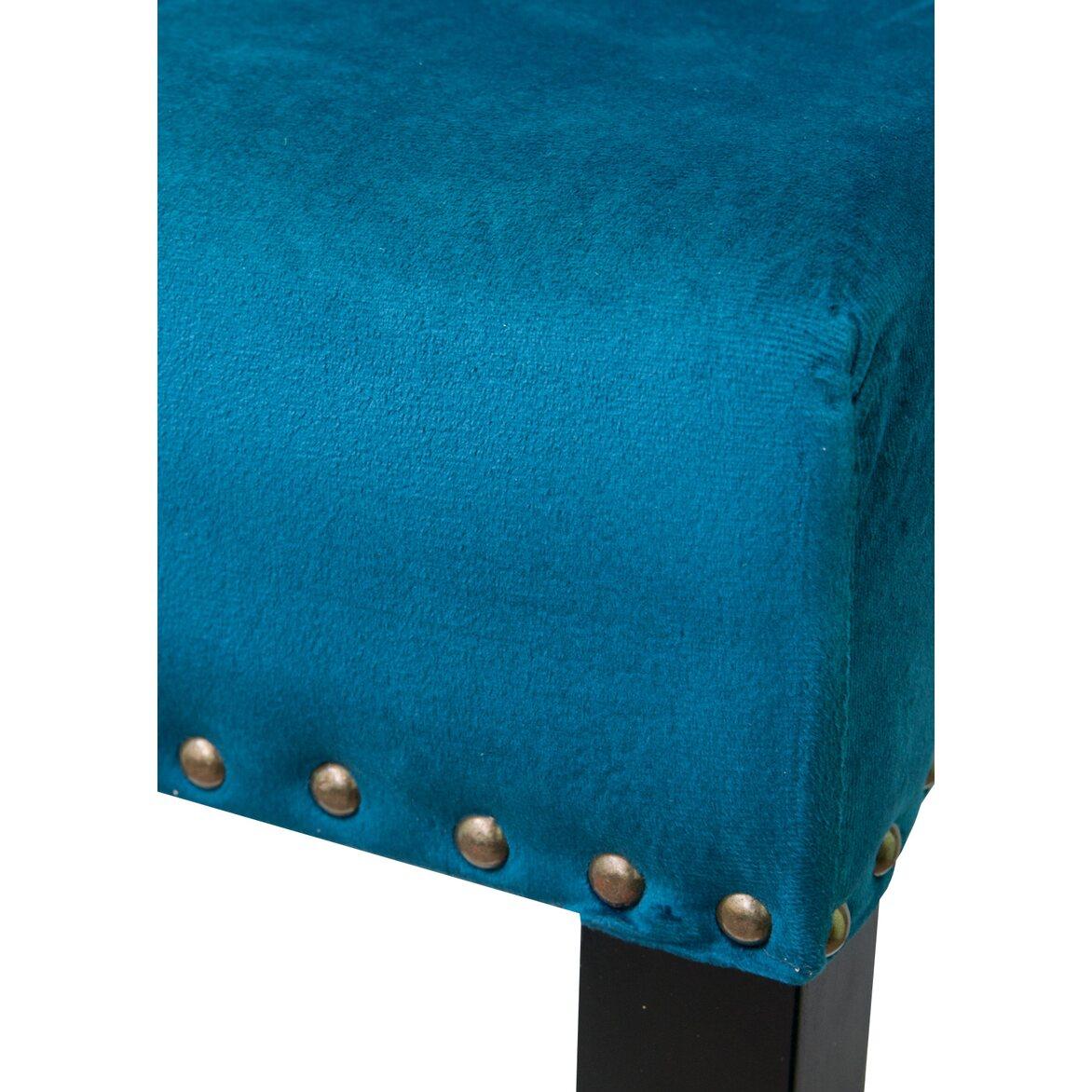 Стул Skipton blue velvet 5   Барные стулья Kingsby