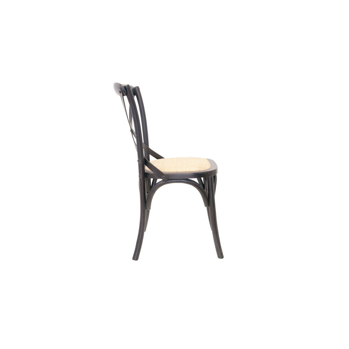 Стул Cross back black 2 | Обеденные стулья Kingsby