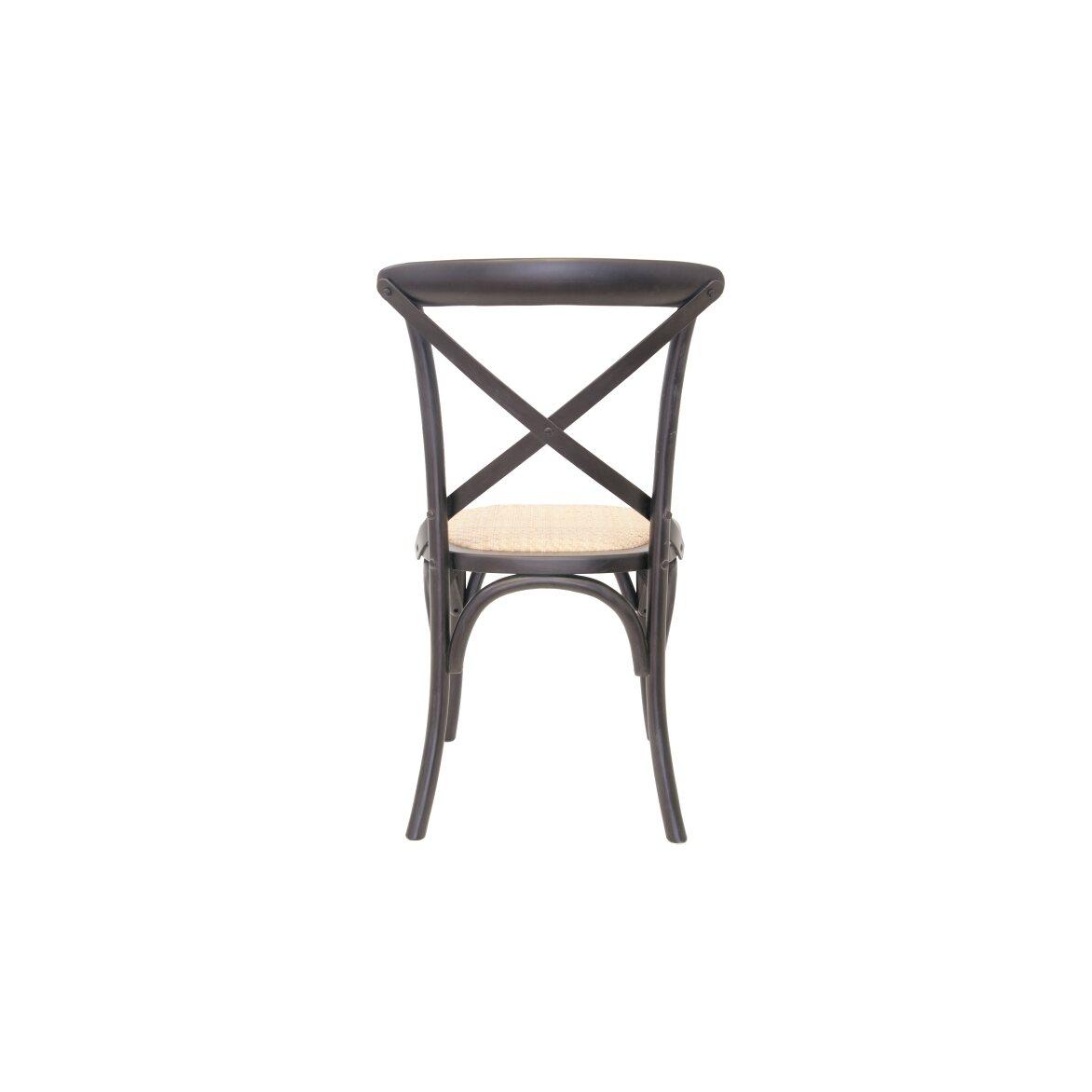 Стул Cross back black 3 | Обеденные стулья Kingsby